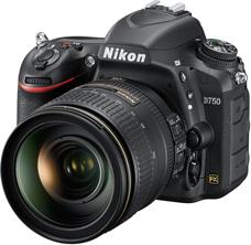 Nikon D750 with lens