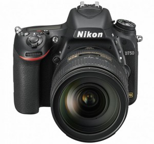 Nikon D750 front of camera with lens
