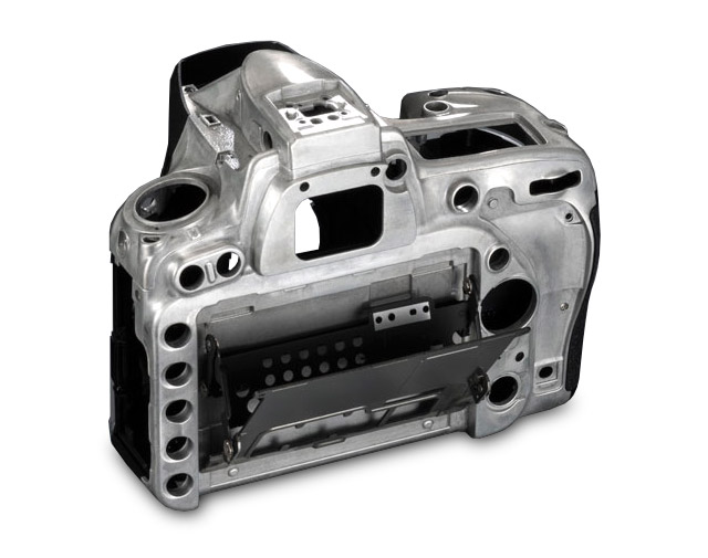 Nikon D750 magnesium-alloy body composite back