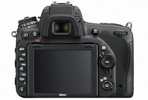 Nikon D750 rear view of camera showing controls