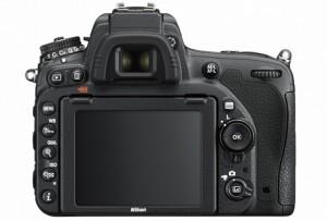 Nikon D750 rear view of camera showing controls