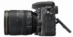 Nikon D750 side view with tilting  LCD extended from camera
